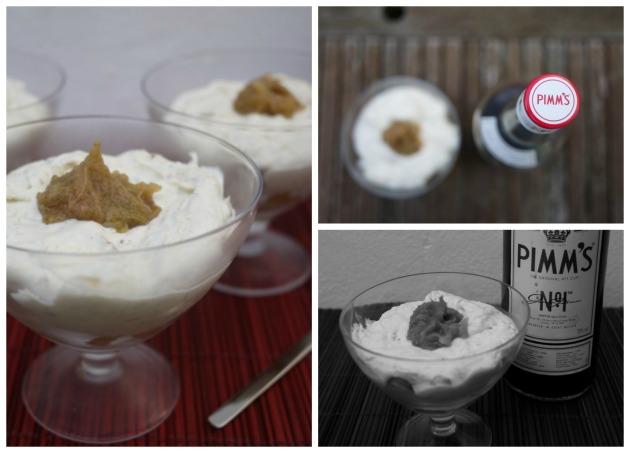 Fruit dessert with Pimm's