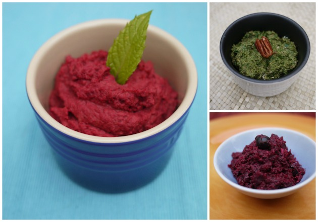 A trio of beetroot spreads