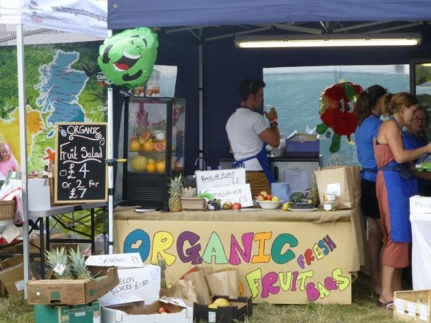 Organic fruit at Feastival