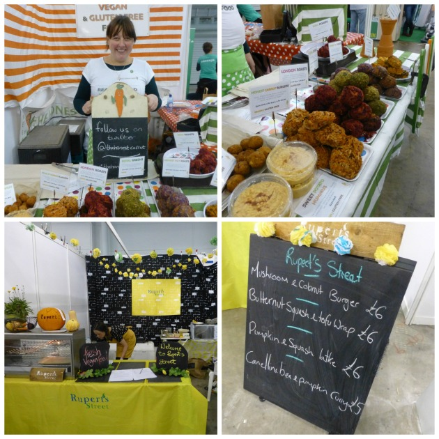 Food stalls at VegFestUK London