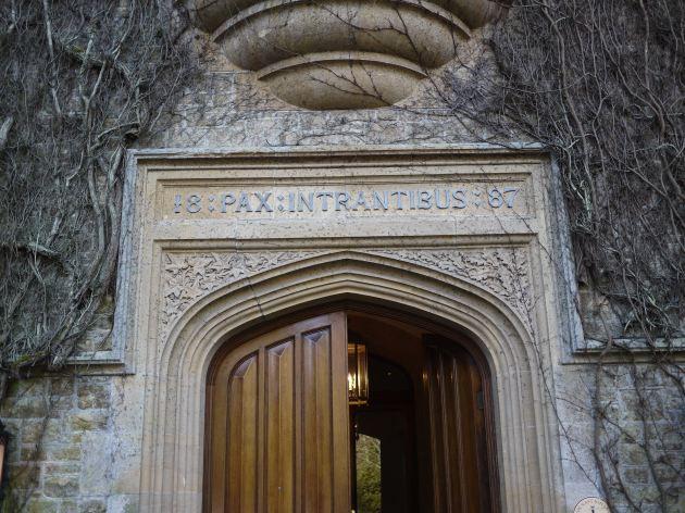 The imposing entrance to Grayshott